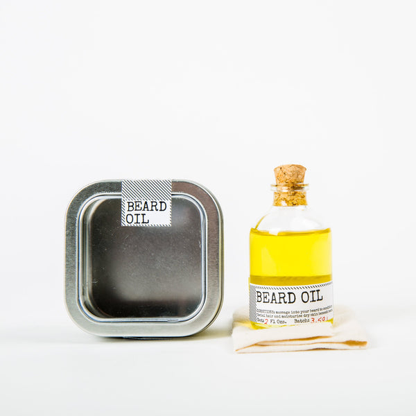 Beard Oil and Face Rag Set by Men's Society - HOWKAPOW
