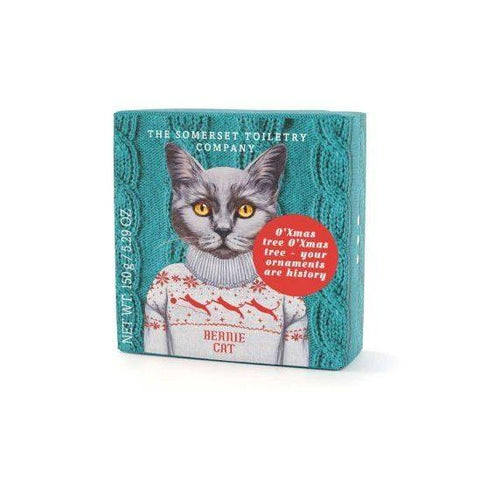 Bernie Cat: Animals in Festive Jumpers Soap - HOWKAPOW