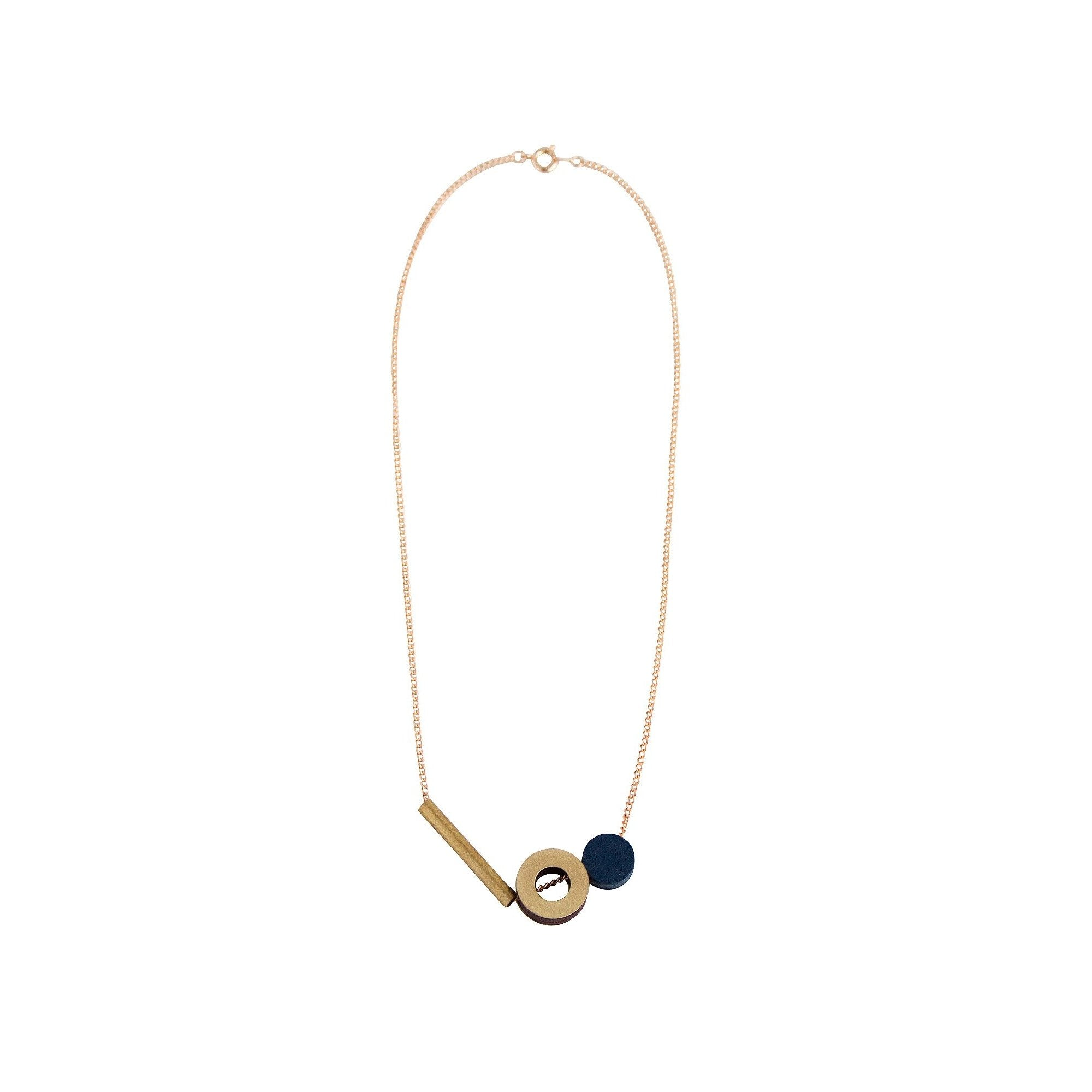 Composition I Necklace from Wolf and Moon in Midnight Blue