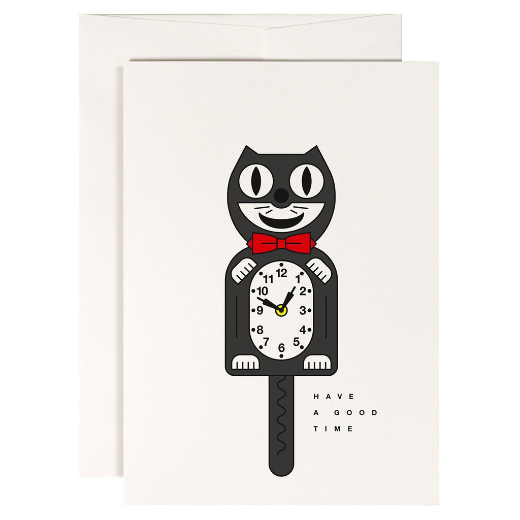 Crazy Cat Greetings Card - HOWKAPOW