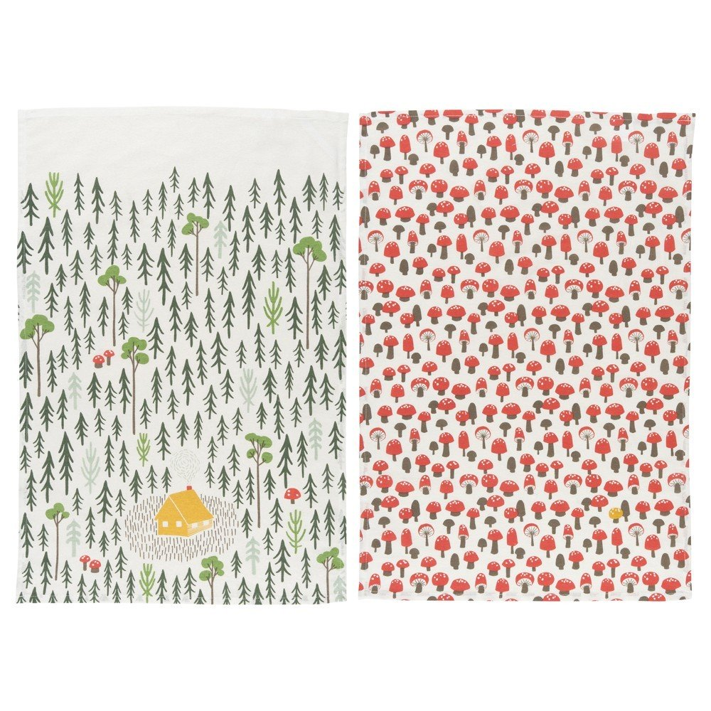 Retreat Tea Towels - HOWKAPOW