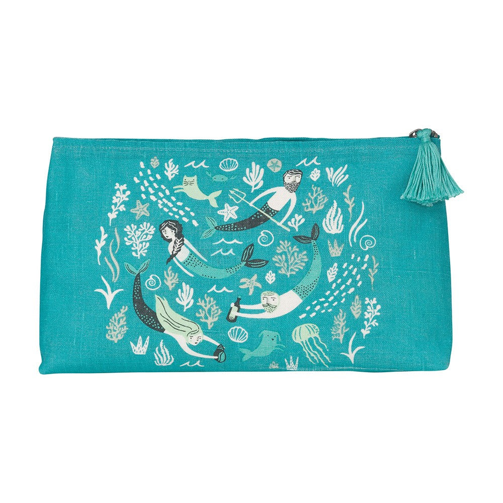 Sea Spell Large Cosmetic Bag - HOWKAPOW