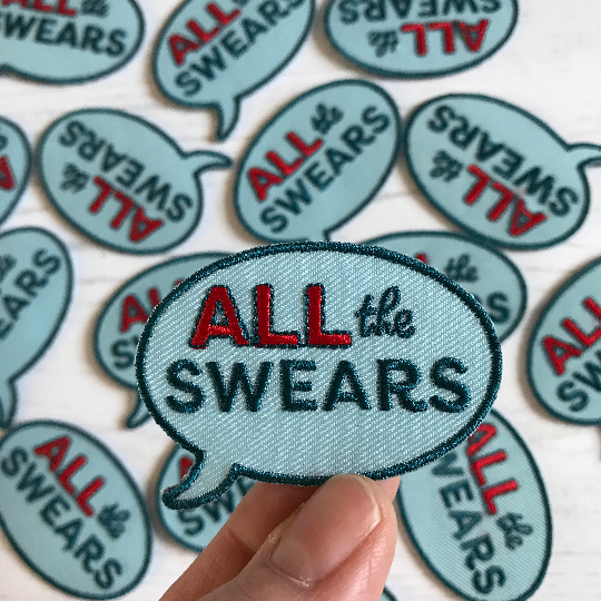 All The Swears Embroidered and Woven Iron On Patch - HOWKAPOW