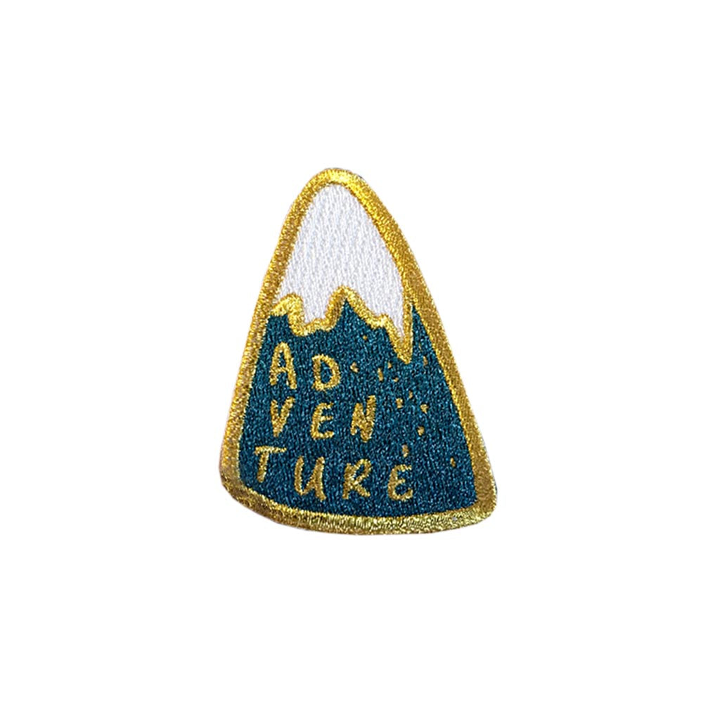 Adventure Mountain Embroidered Iron On Patch - HOWKAPOW