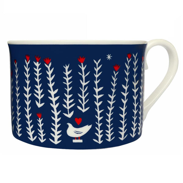 Folk Life Plants Bone China Cup - HOWKAPOW