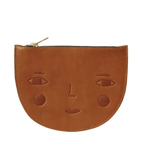 Goldie Leather Zip Pouch - HOWKAPOW