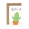 'Hola Cactus' Greetings Card - HOWKAPOW