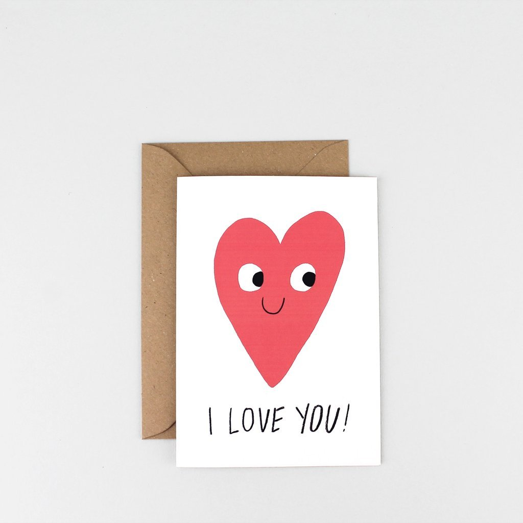 'I Love You' Greetings Card - HOWKAPOW