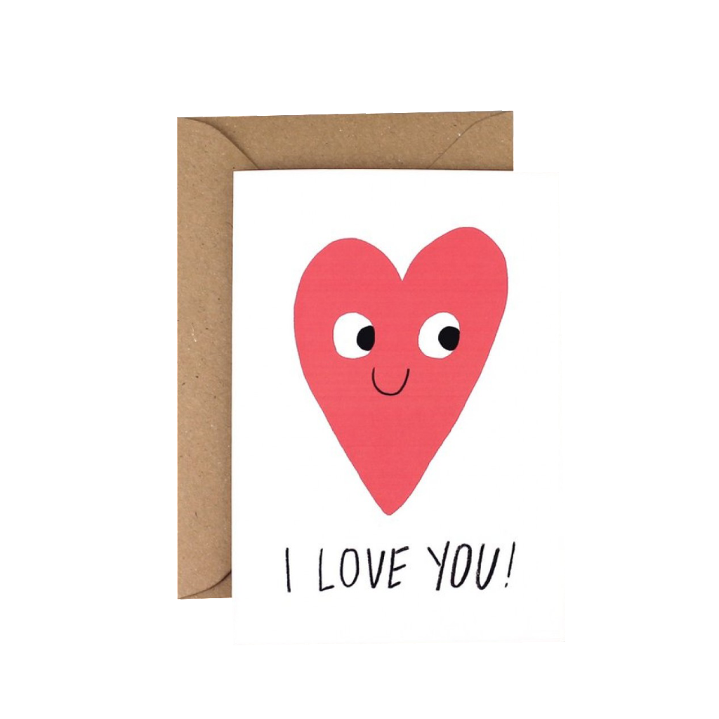 'I Love You' Greetings Card
