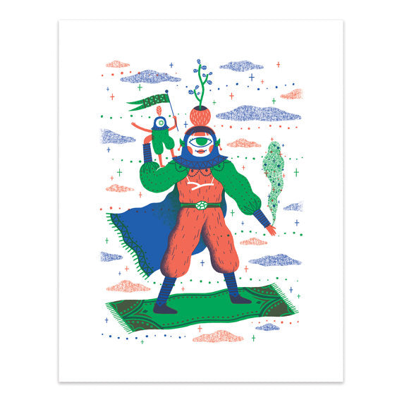 Cosmic Carpet Ride Print - HOWKAPOW