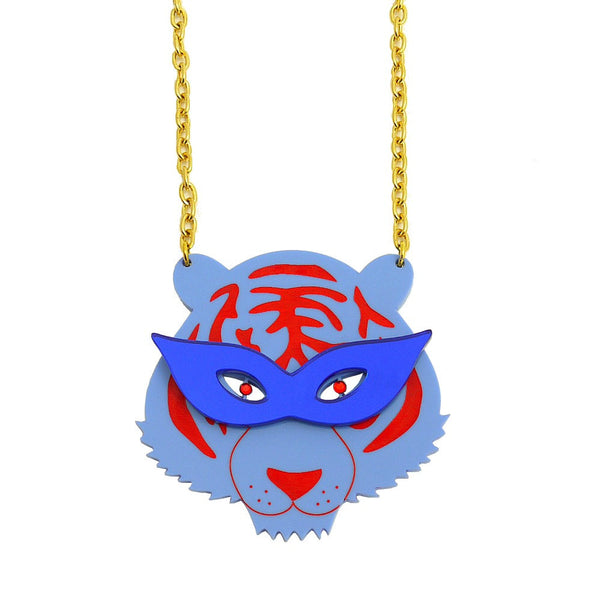 Party Tiger Statement Necklace - HOWKAPOW