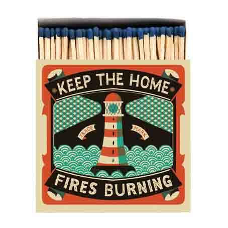 Keep The Home Fires Burning Luxury Matches - HOWKAPOW