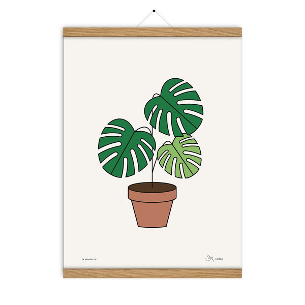 La Monstera Print - HOWKAPOW