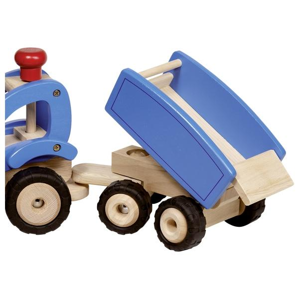 Large Toy Tractor with Trailer - HOWKAPOW