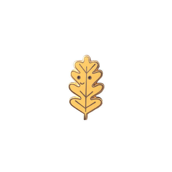 Oak Leaf Enamel Pin - HOWKAPOW