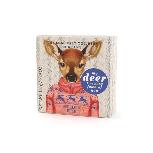 Penelope Deer: Animals in Festive Jumpers Soap - HOWKAPOW