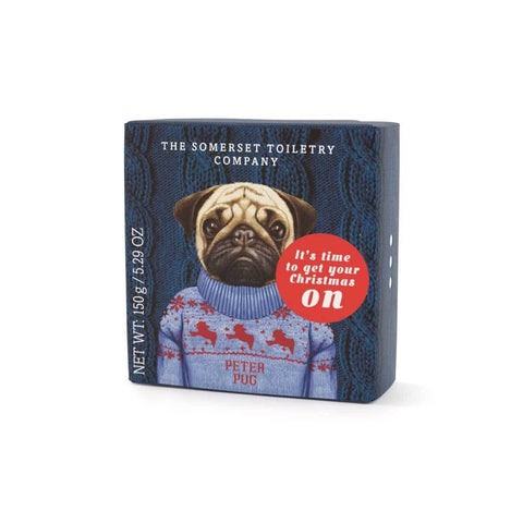 Peter Pug: Animals in Festive Jumpers Soap - HOWKAPOW