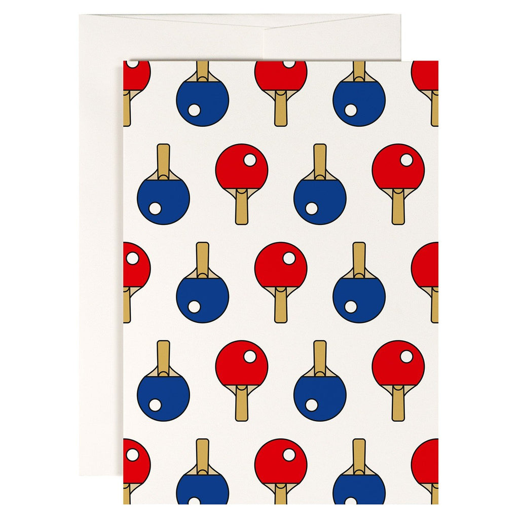 Ping Pong Greetings Card - HOWKAPOW