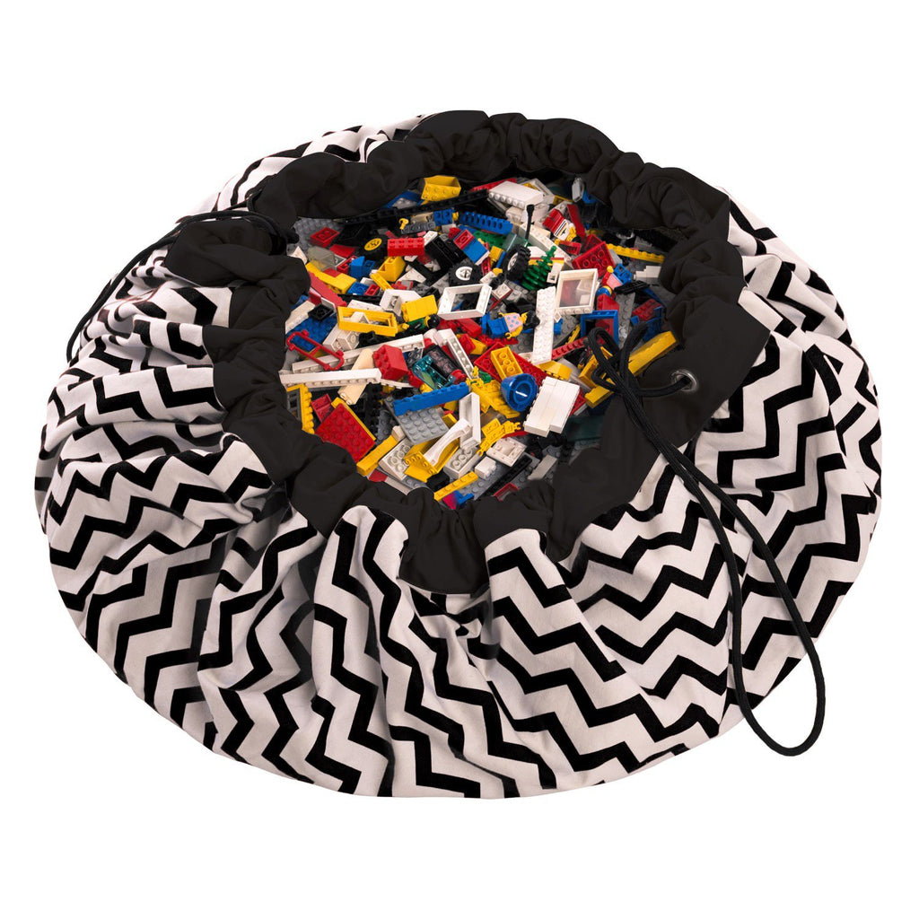 Play & Go Black Zig Zag Playmat - HOWKAPOW