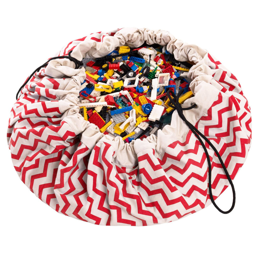 Play & Go Red Zig Zag Playmat - HOWKAPOW