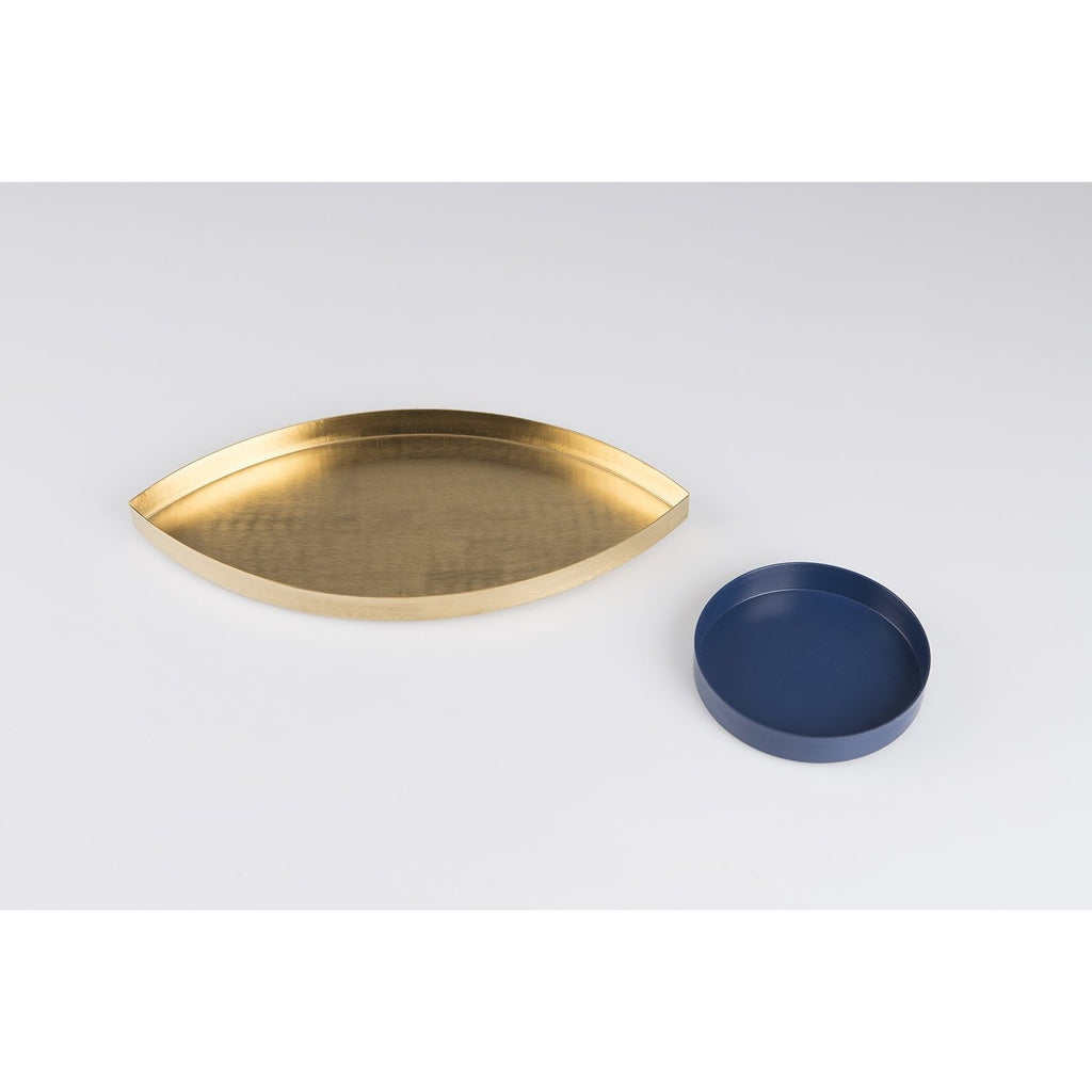 The Eye Gold and Blue Storage Tray - HOWKAPOW