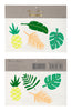 Tropical Leaves Tattoos - HOWKAPOW