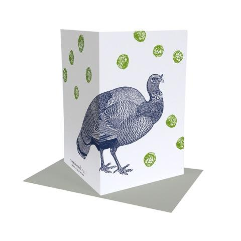 Turkey and Sprout Christmas Card