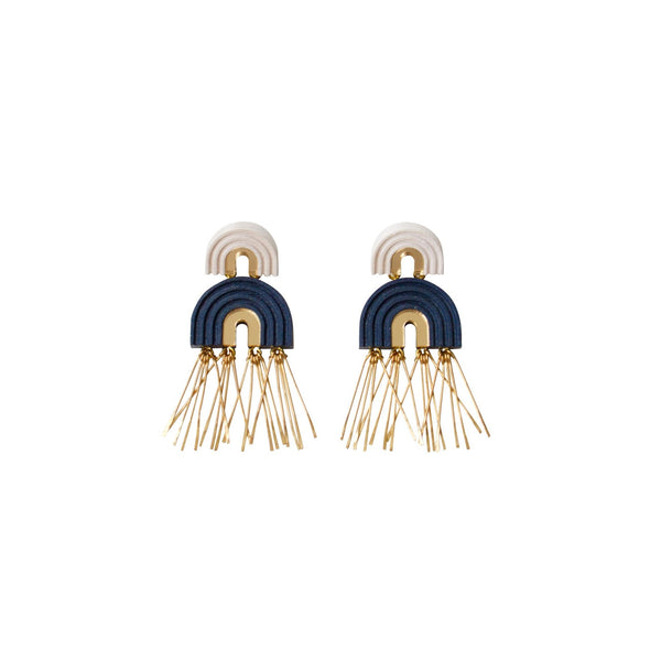 Two Arch Tassel Earrings from Wolf and Moon - HOWKAPOW