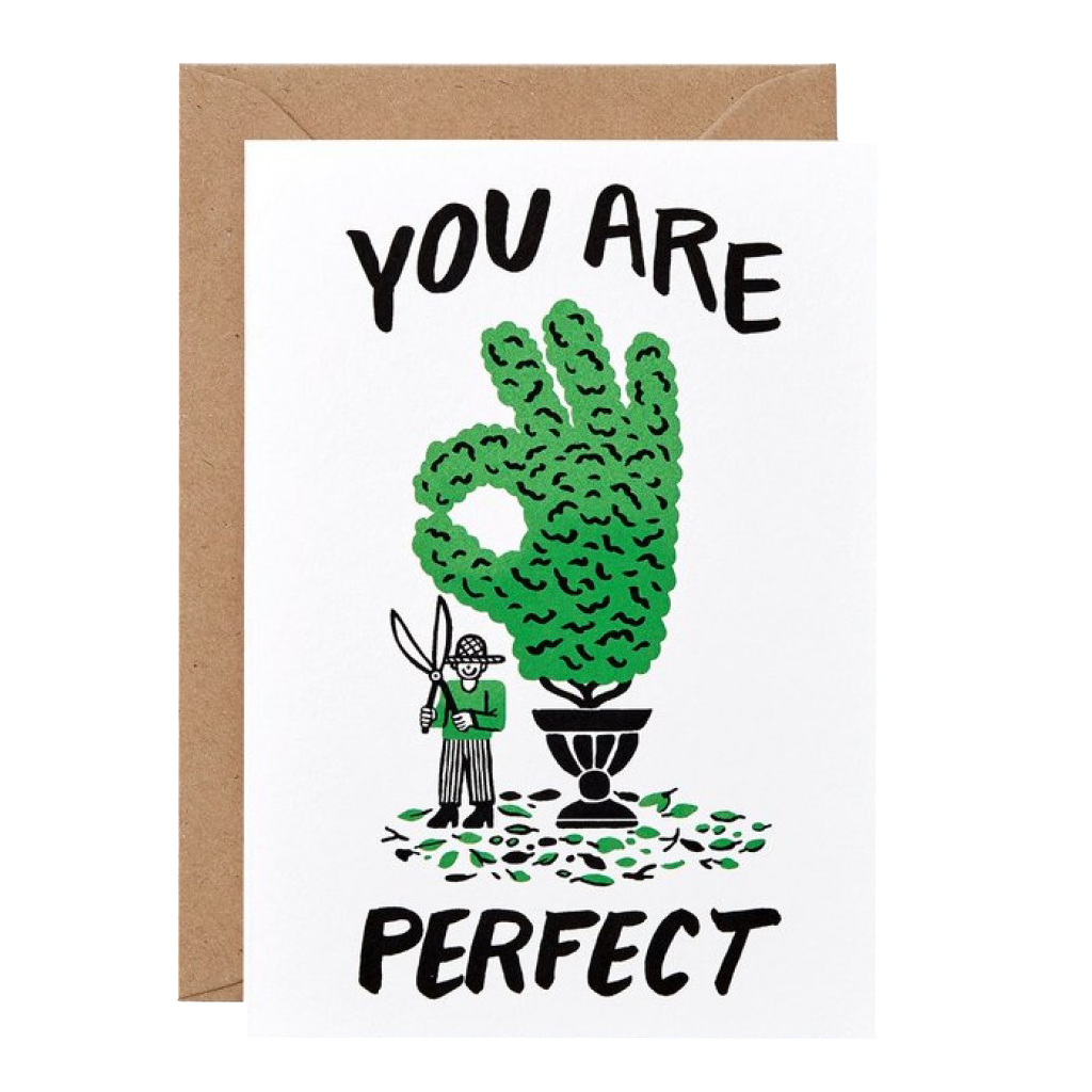 'You Are Perfect' Greetings Card