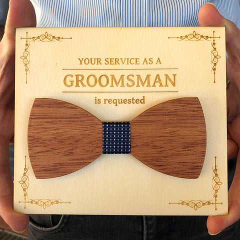 Wooden Bowties - Your service is requested