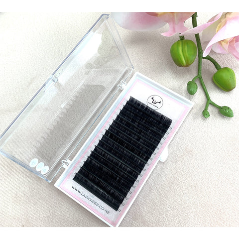 Deep Black Silk mix lengths tray