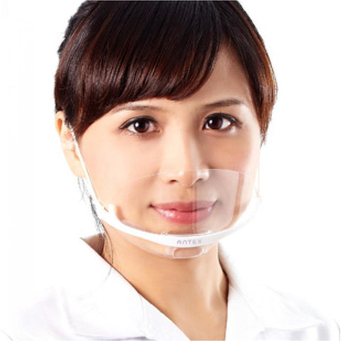 Transparent Plastic Face Mask Pack of 5