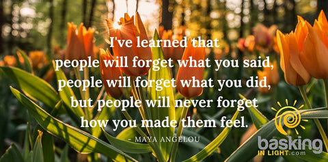 Maya Angelou quote on what people will remember about you