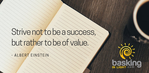 Einstein quote on success vs value