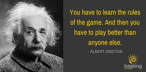 Albert Einstein quote on playing the game