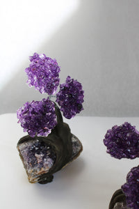 Crystal Amethyst Bonsai Tree - Feng Shui Tree - Gemstone Tree