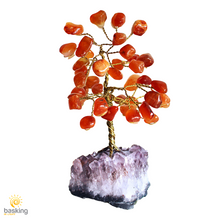 Crystal Bonsai Gem Tree on Amethyst Cluster Base
