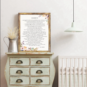 Desiderata Canvas Print Wall Art - Ready to Frame