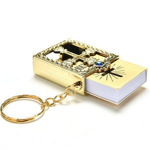 Real Miniature Holy Bible Keychain Keyring