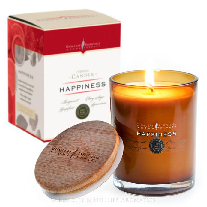 Happiness Artisan Aromatherapy Candle by Gumleaf Essentials