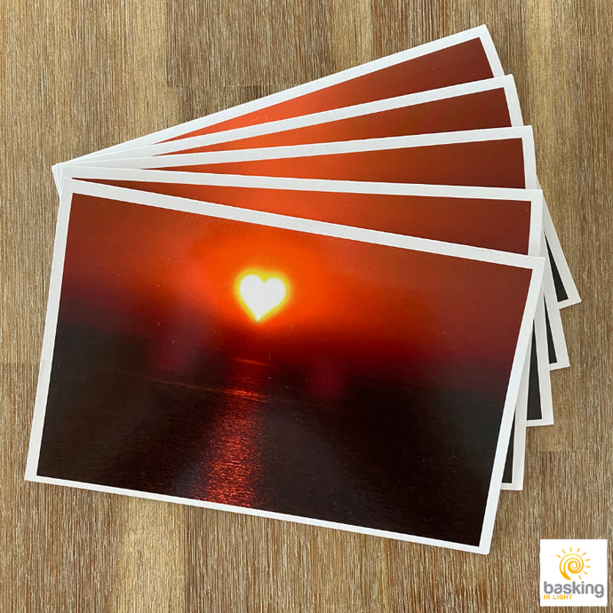 Heart Sun Greeting Cards with Envelopes