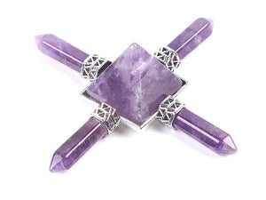 Amethyst Crystal 4 Point Pyramid Energy Generator