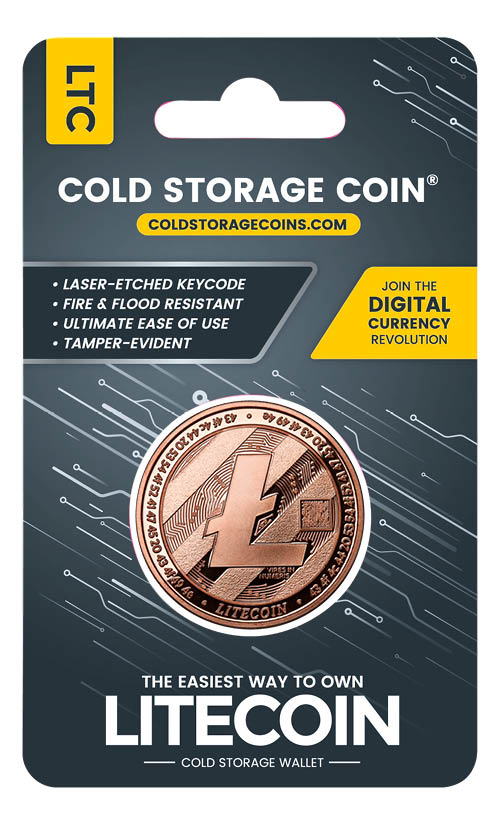 fire and flood Resistant LTC 1 OZ Copper Cold Coin Litecoin wallet