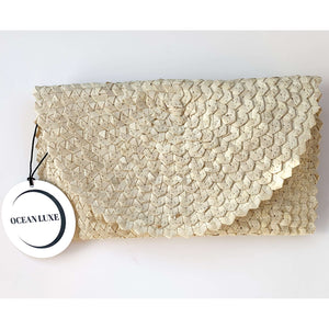 Ocean Luxe:Cottesloe Clutch cream closed