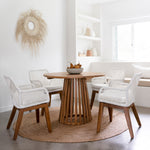 Daniels Dining Chair White - Ocean Luxe