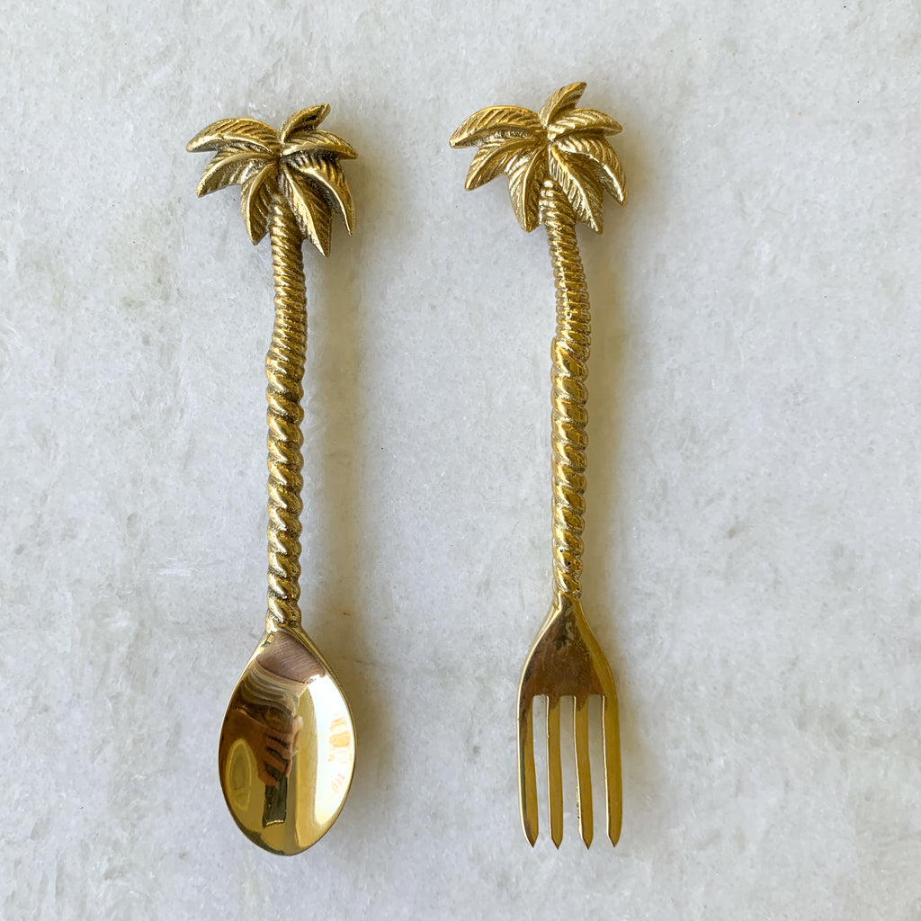 palm tree spoon fork:Ocean Luxe