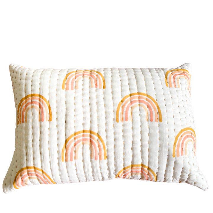 Boho rainbow pillow: Ocean Luxe