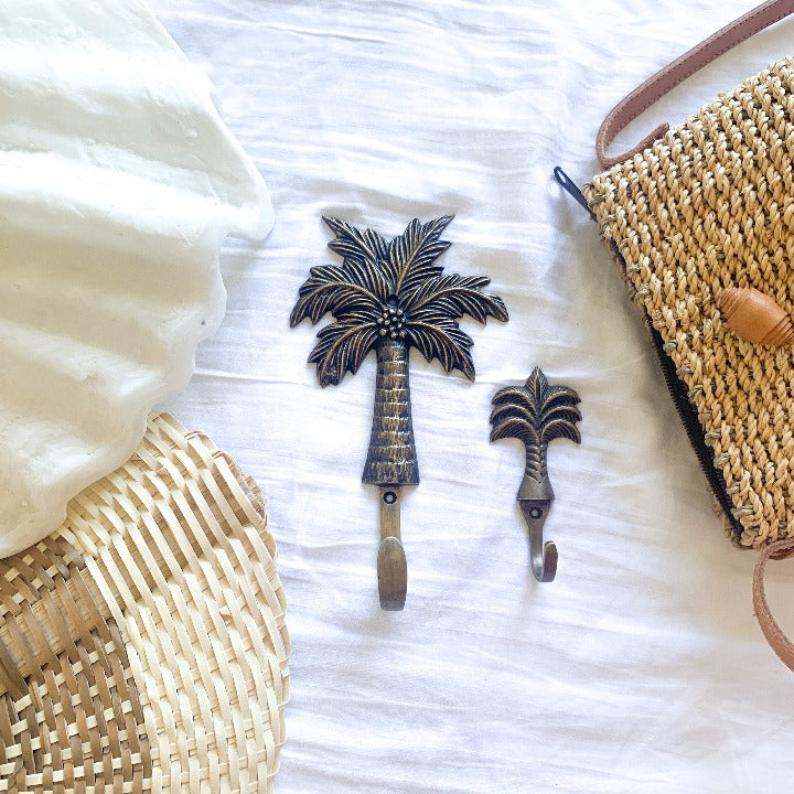 Pre Order - Coconut Palm Tree Brass Hook - Ocean Luxe
