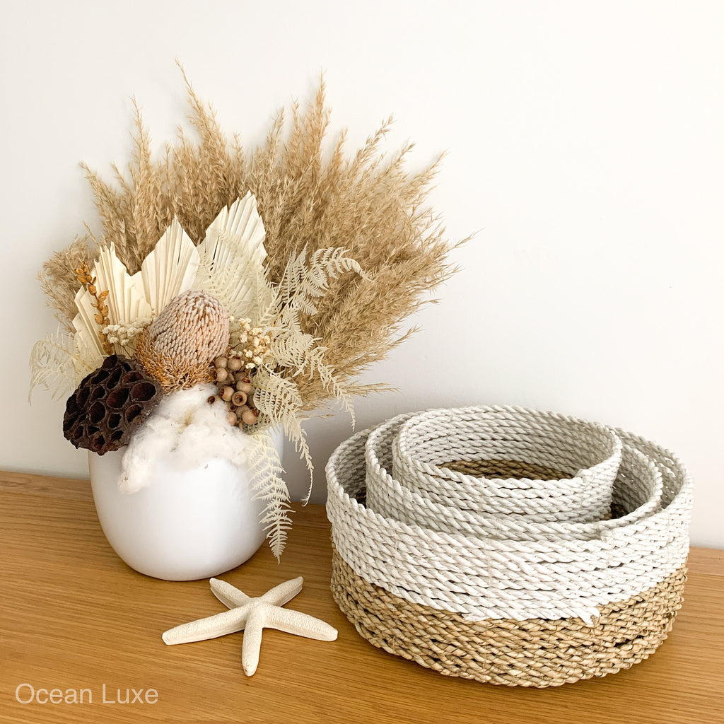 Broome Basket Set of Three - Ocean Luxe