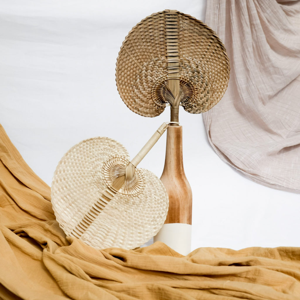 Ocean Luxe:Boho Natural Fan